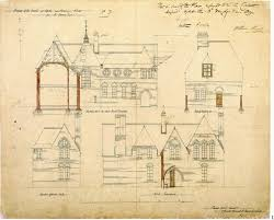 House Architecture Drawing Architectural Drawings For The Red House By Philip Speakman Webb