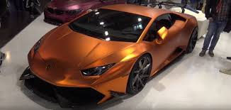 wrapped lamborghini copper wrapped lamborghini huracan gets gaping carbon bodykit in