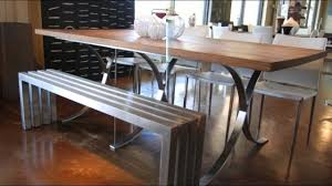 12 cool dining table ideas with benches youtube
