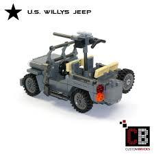 jeep willys custom custombricks de lego ww2 wwii wehrmacht willys jeep mit m416