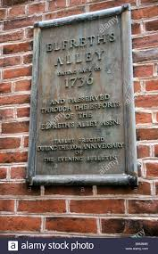 Elfreth S Alley by Plaque Marks Site Of Elfreth U0027s Alley Oldest Street In
