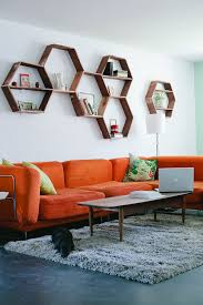 Orange Sofa Living Room Ideas Living Room Mesmerizing Geometric Living Room Decor With Orange