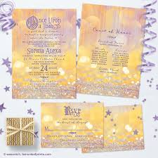 Party Invitations With Rsvp Cards Magical Ballroom Fairy Tale Once Upon A Time Quinceañera Birthday