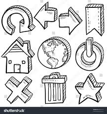 Home Design Doodle Book by Doodle Style Internet Symbol Set That Stock Vector 99912113