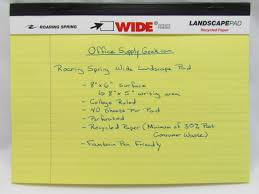Writing On Graph Paper Wide Landscape Legal Pads Ruled And Graph Paper Officesupplygeek