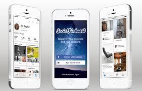 social pinboard ios app template in swift