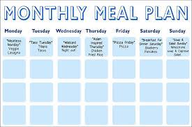 meal calendar template printable weekly meal calendar example 9