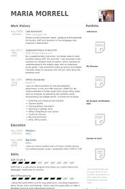 Office Assistant Resume Template Lab Assistant Resume Samples Visualcv Resume Samples Database
