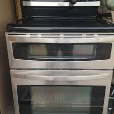 Glass In Toaster Oven Best Kenmore Elite Glass Top Double Oven Stove For Sale In