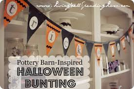 pottery barn inspired no sew halloween bunting living well
