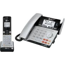 at u0026t 2 line corded cordless phone answering machine tl86103