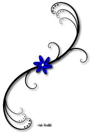 small flower tattoos blue flower with vine by clip