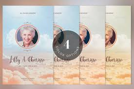 Funeral Program Designs Heaven Funeral Program Psd Template By Godserv2 Graphicriver