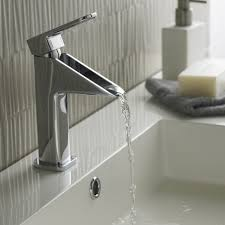 Grohe Kitchen Sink Faucets Bathrooms Design Waterfall Sink Faucet Cross Handle Bathroom