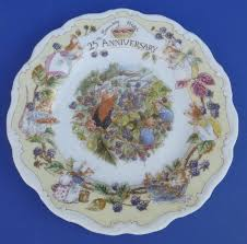 25th anniversary plate royal doulton brambly hedge 25th anniversary wall plate lord