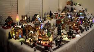 images of miniature christmas village houses christmas tree