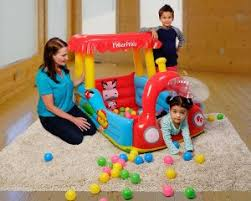 fisher price train table amazon fisher price train inflatable ball pit 31 26 saving money