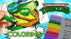 tmnt teenage mutant ninja turtles coloring book kids activity tuyc
