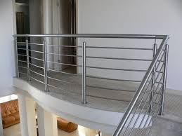 metal landing banister and railing stairs stainless steel stair rail height right planning to build
