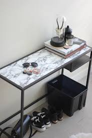 Paper Table L Tutorial Faux Marble Table Diy Marbles Contact Paper And Ikea