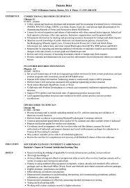 resume tips and exles records technician resume sles velvet