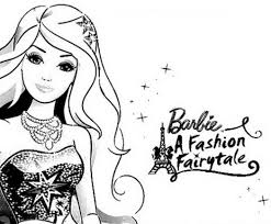 barbie fashion fairytale coloring pages fullcoloringpages 210273