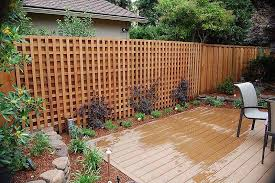 wood lattice wall m m builders fence and gate details