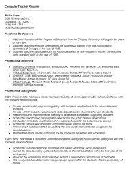 Resume For Computer Teacher Educator Resume Sle 28 Images Resume Scotland Sales Lewesmr