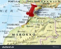 Cabo Map Map Morocco Pin Set On Rabat Stock Photo 404447956 Shutterstock