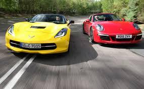 porsche 911 vs corvette chevrolet corvette stingray vs porsche 911 targa 4 gts