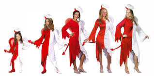 Devil Halloween Costumes Kids Angelic Wife Devil