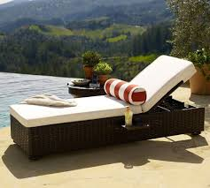 Outdoor Chaise Chairs Design Ideas Furniture Wicker Outdoor Chaise Lounge With White Seating And