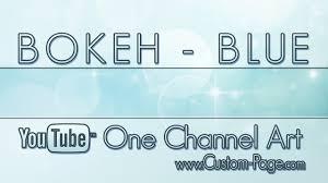 bokeh blue youtube channel art template photoshop psd youtube