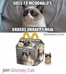 Unhappy Cat Meme - 25 best memes about cats grumpy cat and mcdonalds cats