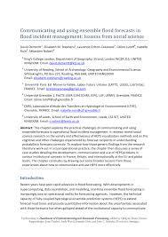transfert de si e social sci communicating and ensemble flood pdf available
