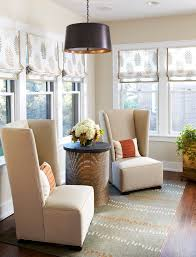 Beige Wingback Chair Roman Shades Images Living Room Modern With Panorama Window Modern