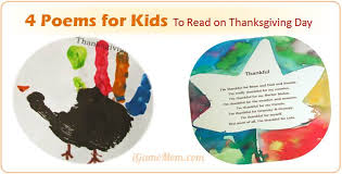 4 poems for to read and write on thanksgiving day