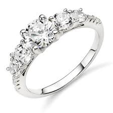 zirconia stone rings images Silver cubic zirconia five stone ring 0006452 beaverbrooks the