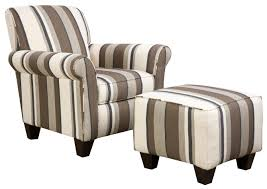Contemporary Accent Chairs For Living Room Furniture Natural Stripe Design Upholstered Accent Chairs For