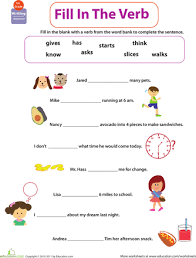 verb worksheets 1st grade free worksheets library download and