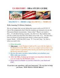 us history dba study guide