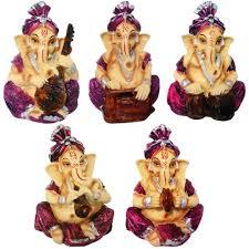 5 pcs combo musical god shri ganesh statue lord ganesha idol