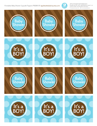 baby shower free printables it u0027s a boy cupcake toppers blue and