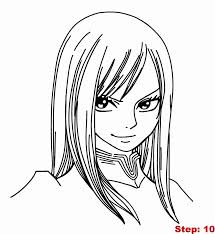 fairy tail erza coloring pages kids coloring