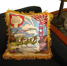 sweetheart army pillow cover military gift vintage home decor