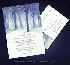 winter wedding invitations winter wedding invitation spotlight snowy forest