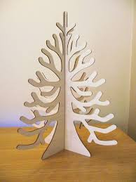 laser cut 3d slot together birch ply tree