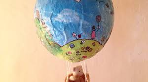 how to make a paper mache air balloon diy crafts tutorial