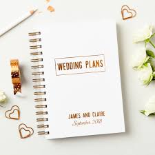 wedding planner guide book personalised copper wedding plans book by martha brook