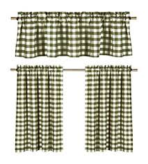 Green And White Kitchen Curtains Green White Kitchen Curtains Gingham Checkered